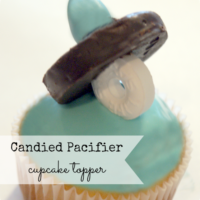 {it's baby time} pacifier candies with somewhat simple