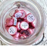 Easy personalized Hershey kisses
