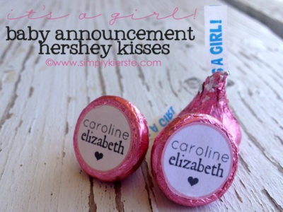 Baby Announcement Hershey Kiss Printables | simplykierste.com