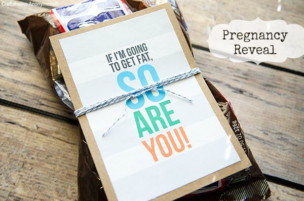 It's Baby Time| Pregnancy Reveal Printable with Craftaholics Anonymous | simplykierste.com