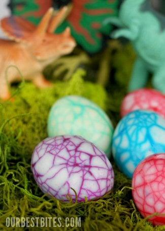 Dinosaur Eggs | Easter Egg Ideas for Kids | oldsaltfarm.com