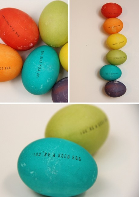 Stamped Eggs | Easter Egg Ideas for Kids | simplykierste.com