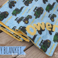 {it's baby time } easy baby blanket with gingersnap crafts