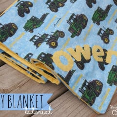 It's Baby Time | Personalized Baby Blanket with Gingersnap Crafts | simplykierste.com