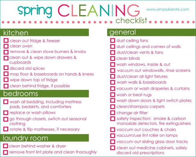 Spring Cleaning Checklist & Free Printable | oldsaltfarm.com
