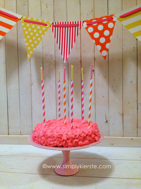 striped straw birthday candles | oldsaltfarm.com
