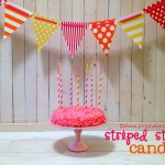 {striped straw birthday candles}