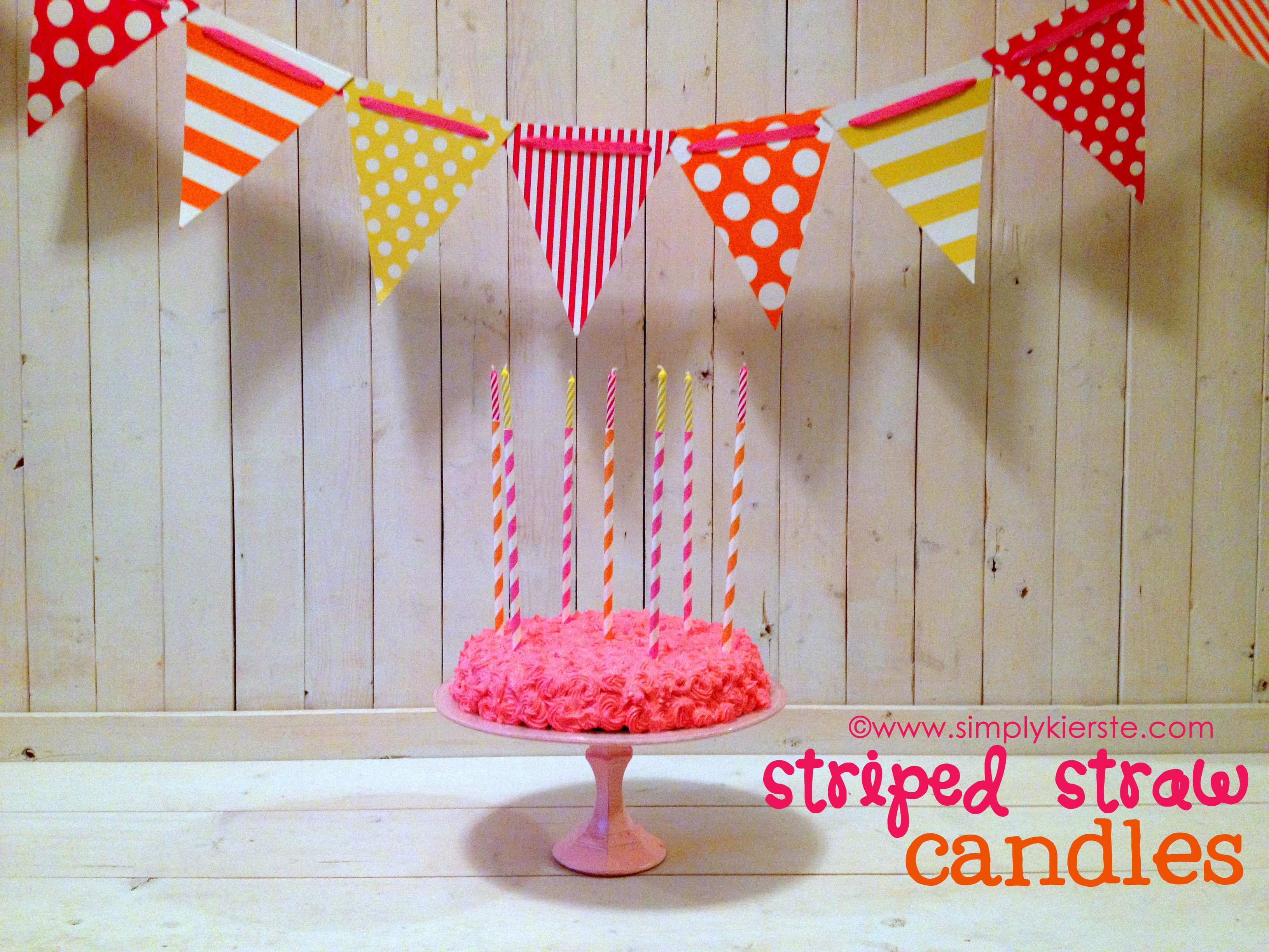 {striped straw birthday candles}