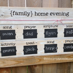 Family Home Evening Board | simplykierste.com