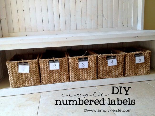 DIY Numbered Labels | simplykierste.com