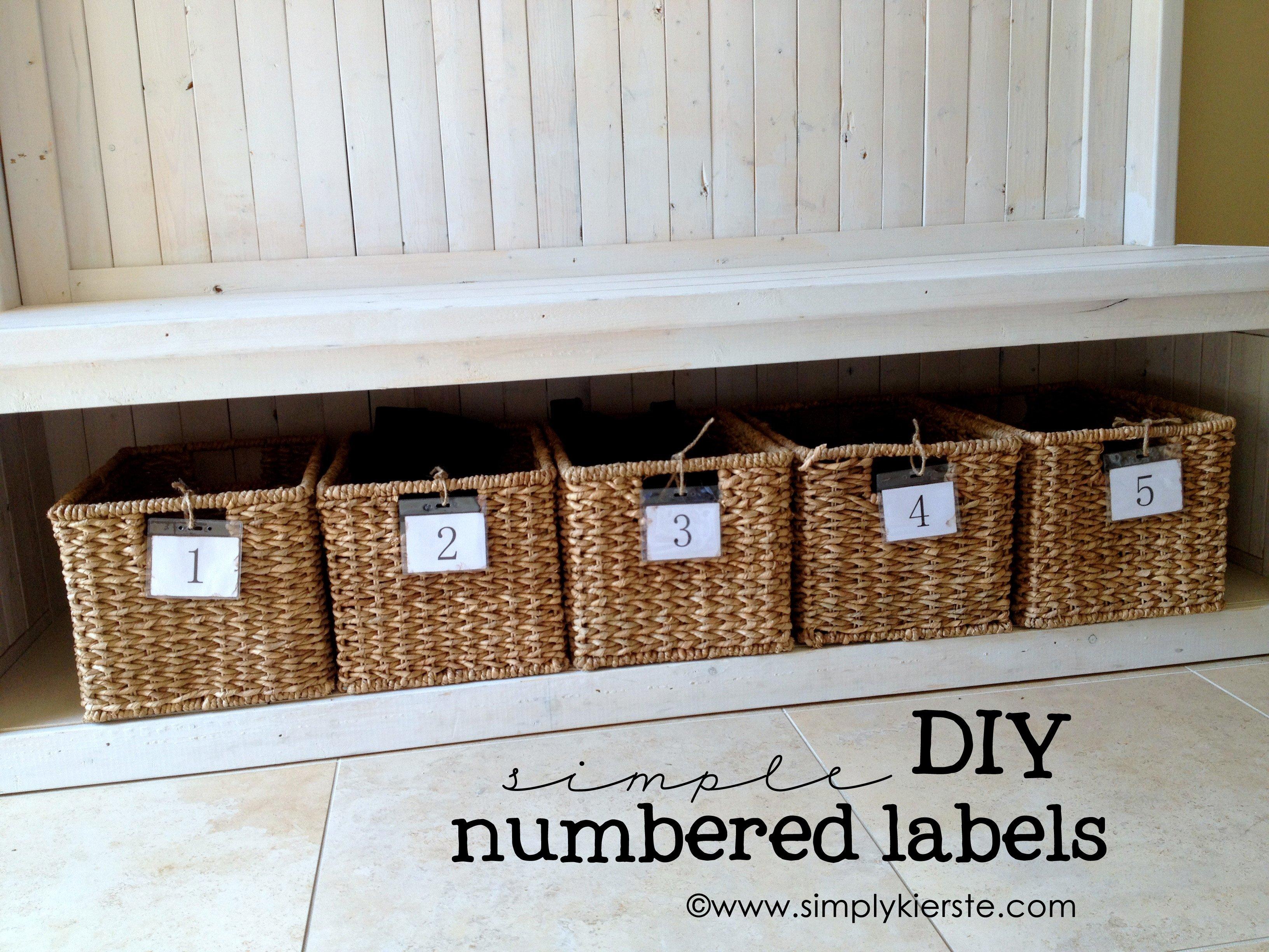 DIY Numbered Labels | simplykierste.com & Simple DIY Numbered Labels