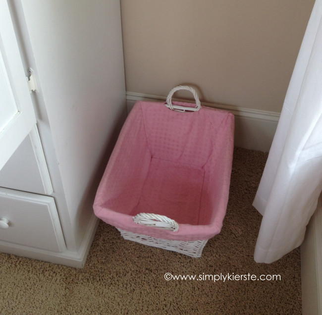 Nursery in a small space - Laundry hampers for small spaces plan ...