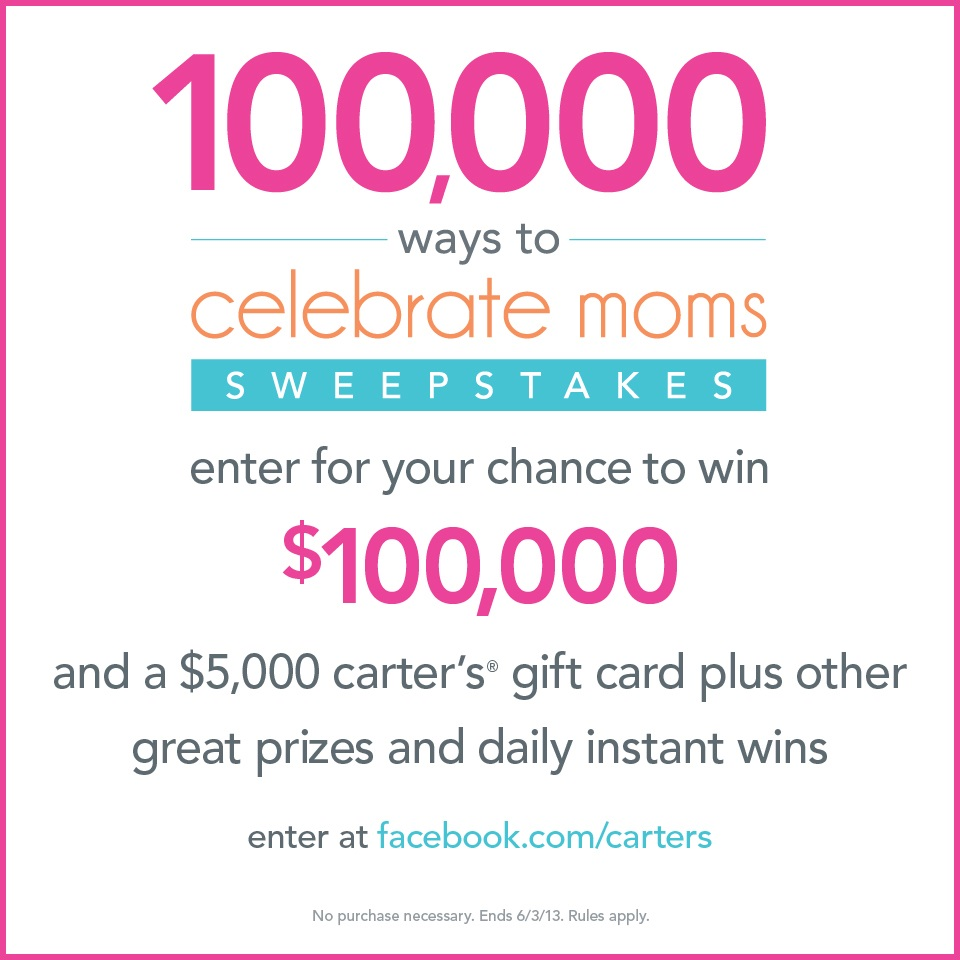 {celebrating mom with carter's} giveaway!