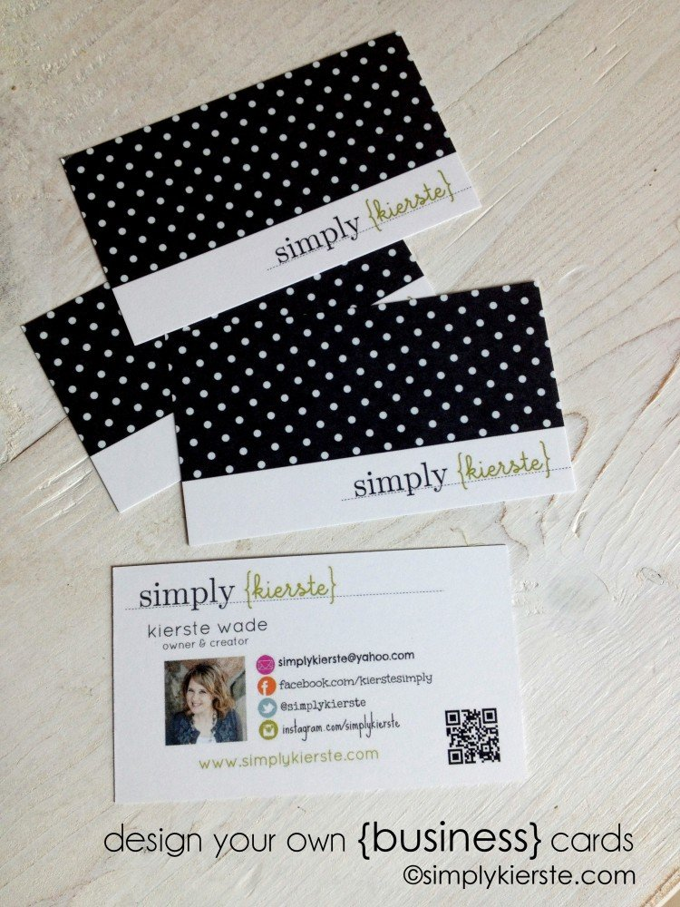 How to design your own business cards | simplykierste.com