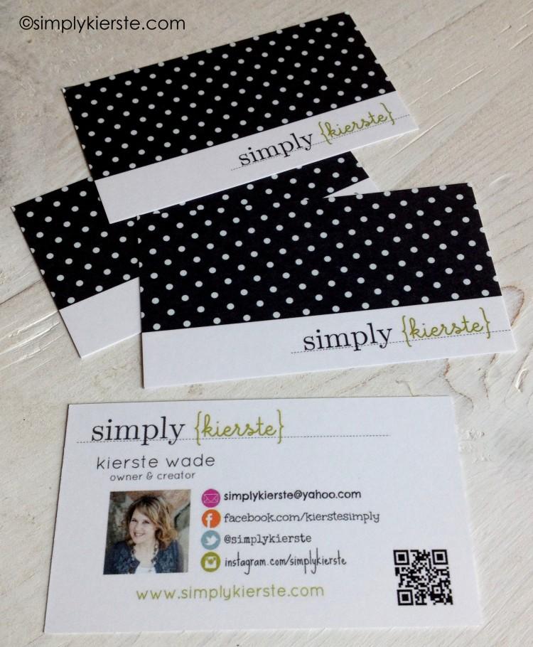 diy business cards | simplykierste.com