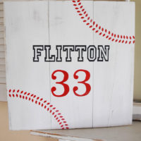 {baseball board sign with chalkboard blue}