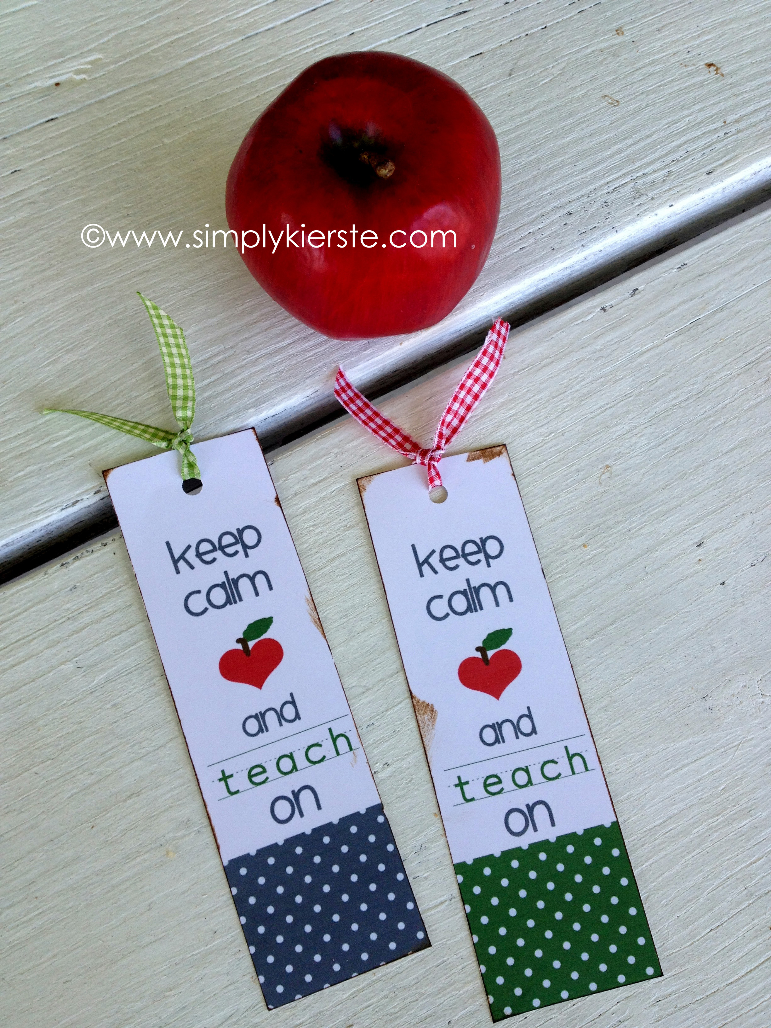 Perfect Keep Calm and Carry OnTeacher Bookmarks }| simplykierste.com XM27