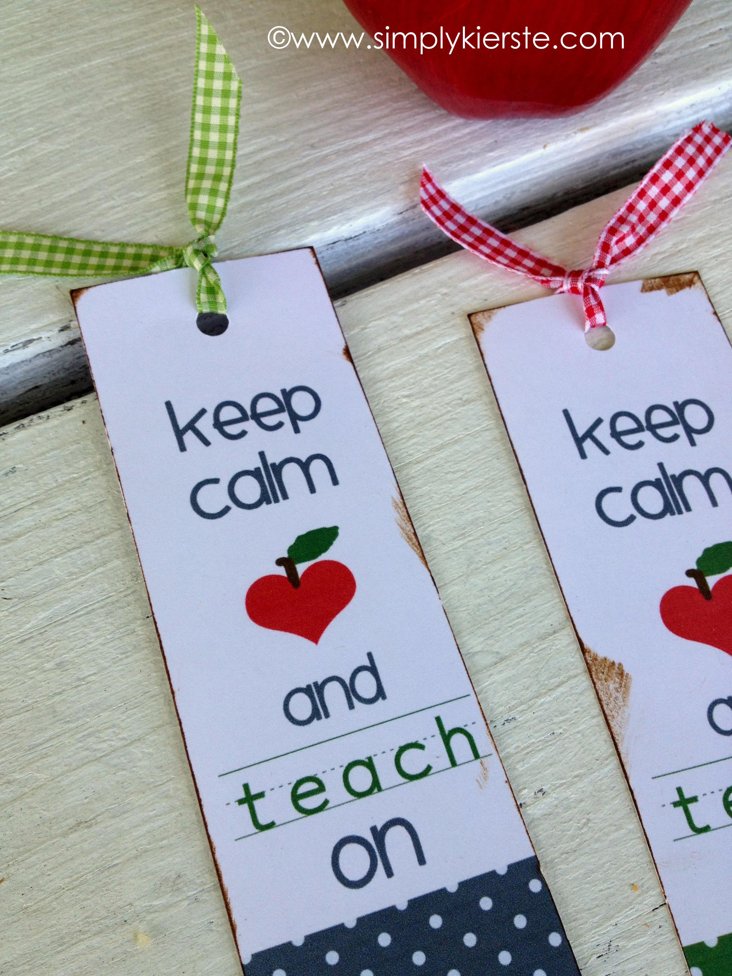 keep calm and carry onteacher bookmarks }| simplykierste