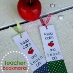 {keep calm and teach on…teacher bookmarks}