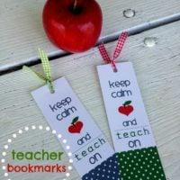 {keep calm and teach on…teacher bookmarks}
