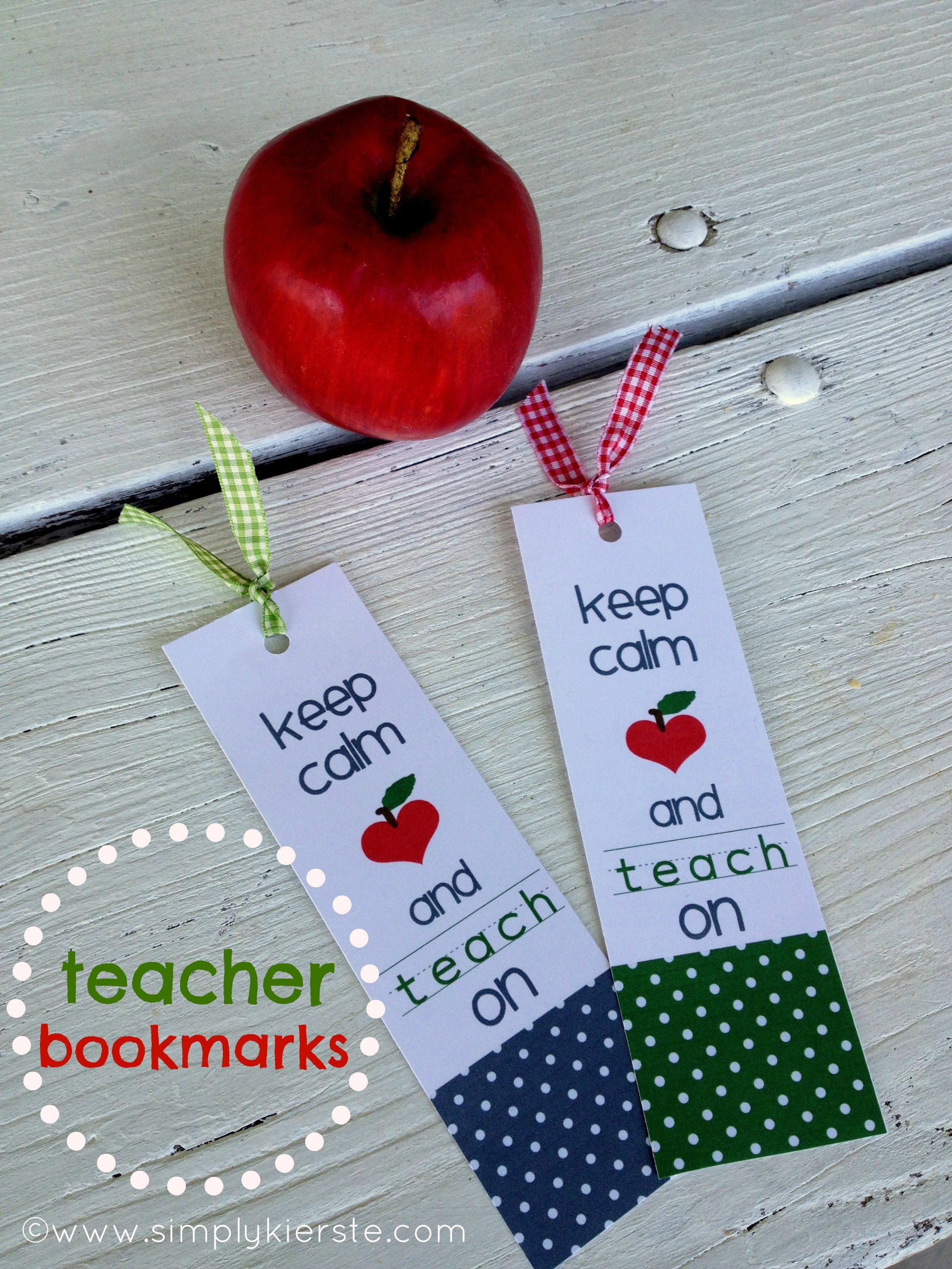 Beautiful Keep Calm and Carry OnTeacher Bookmarks }| simplykierste.com MM01