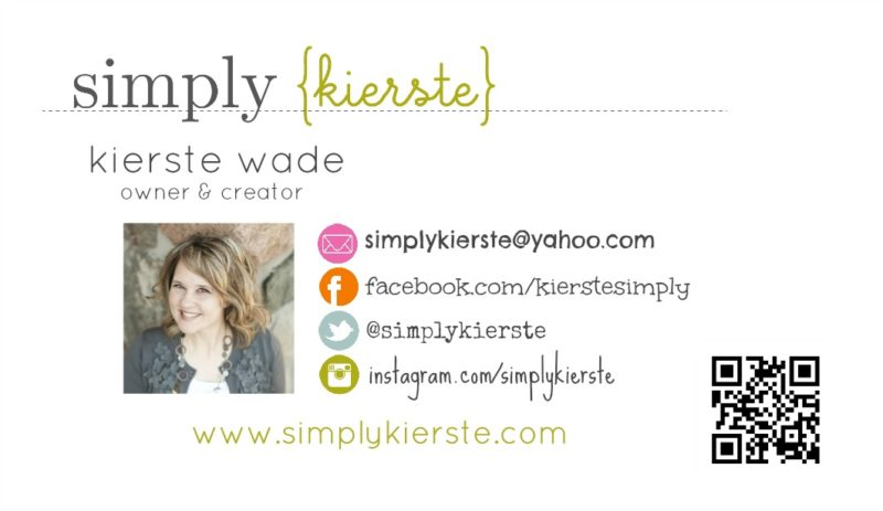 diy business cards | simplykierste.com