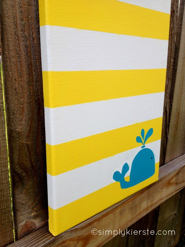 Striped canvas art for Easy to do canvas art