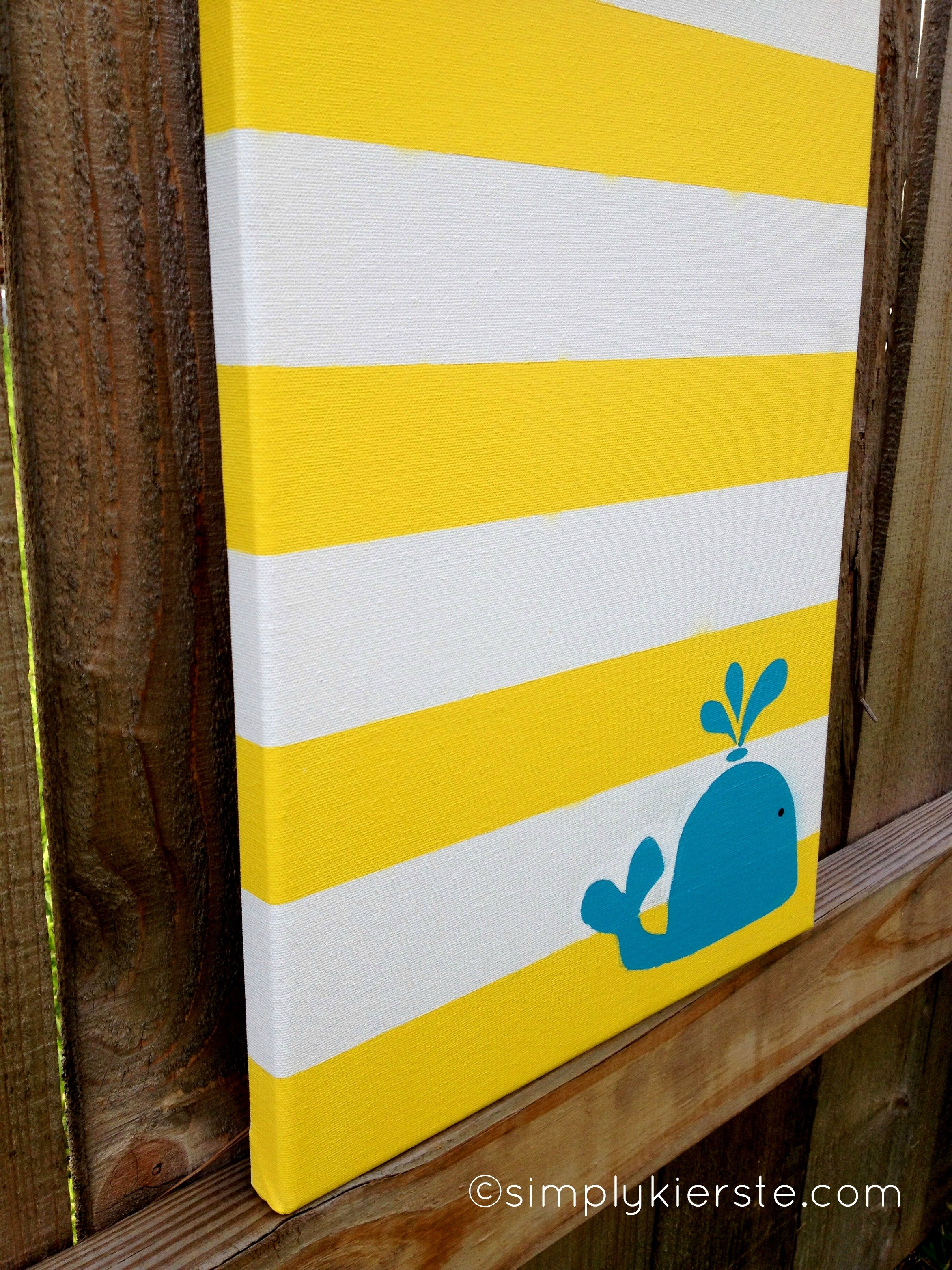 Striped Canvas Art | simplykierste.com