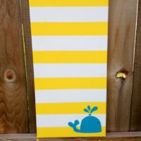 Striped Canvas Art