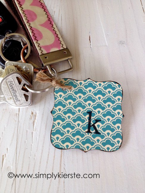 chipboard keychain | simplykierste.com