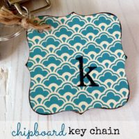 {chipboard key chain}