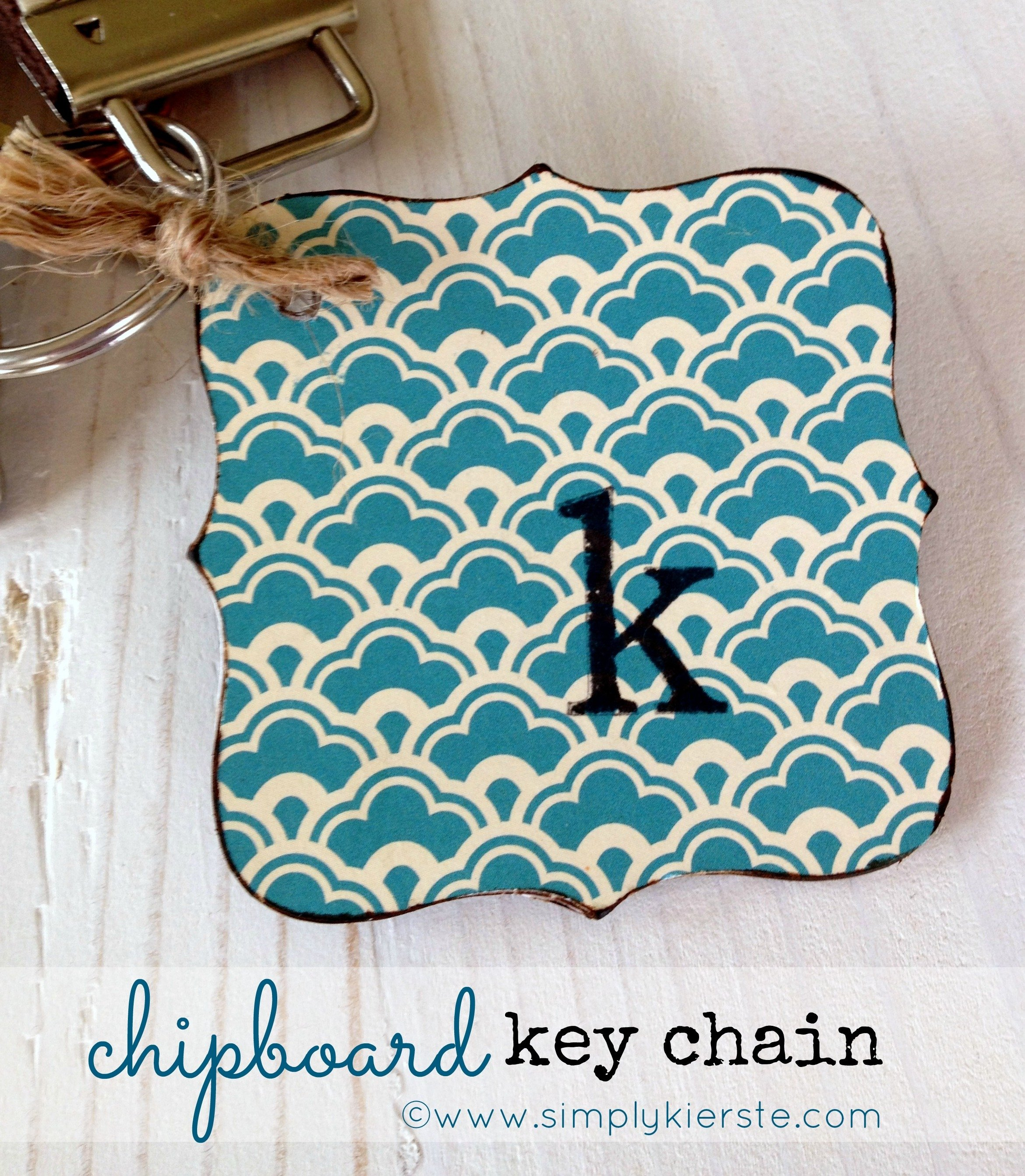 chipboard key chain | simplykierste.com