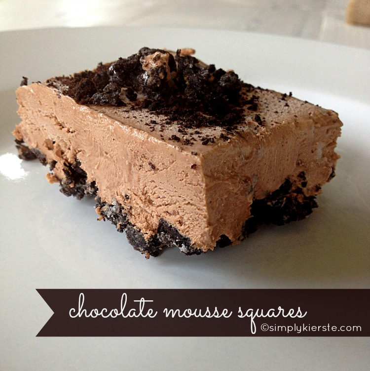 chocolate mousse squares | simplykierste.com