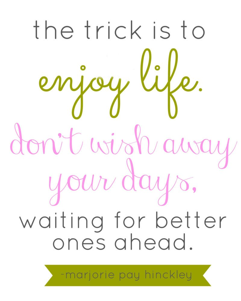 enjoy life quote | oldsaltfarm.com