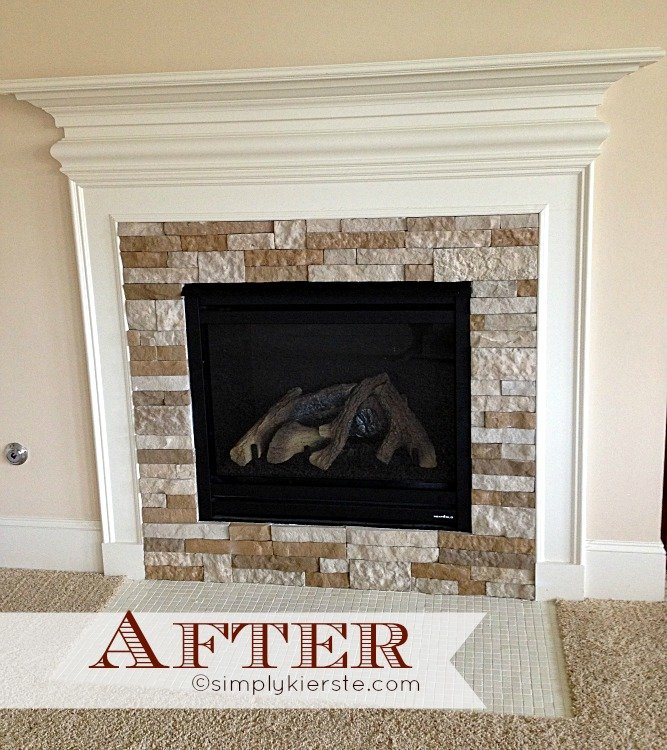 {fireplace makeover using airstone:  before & after}