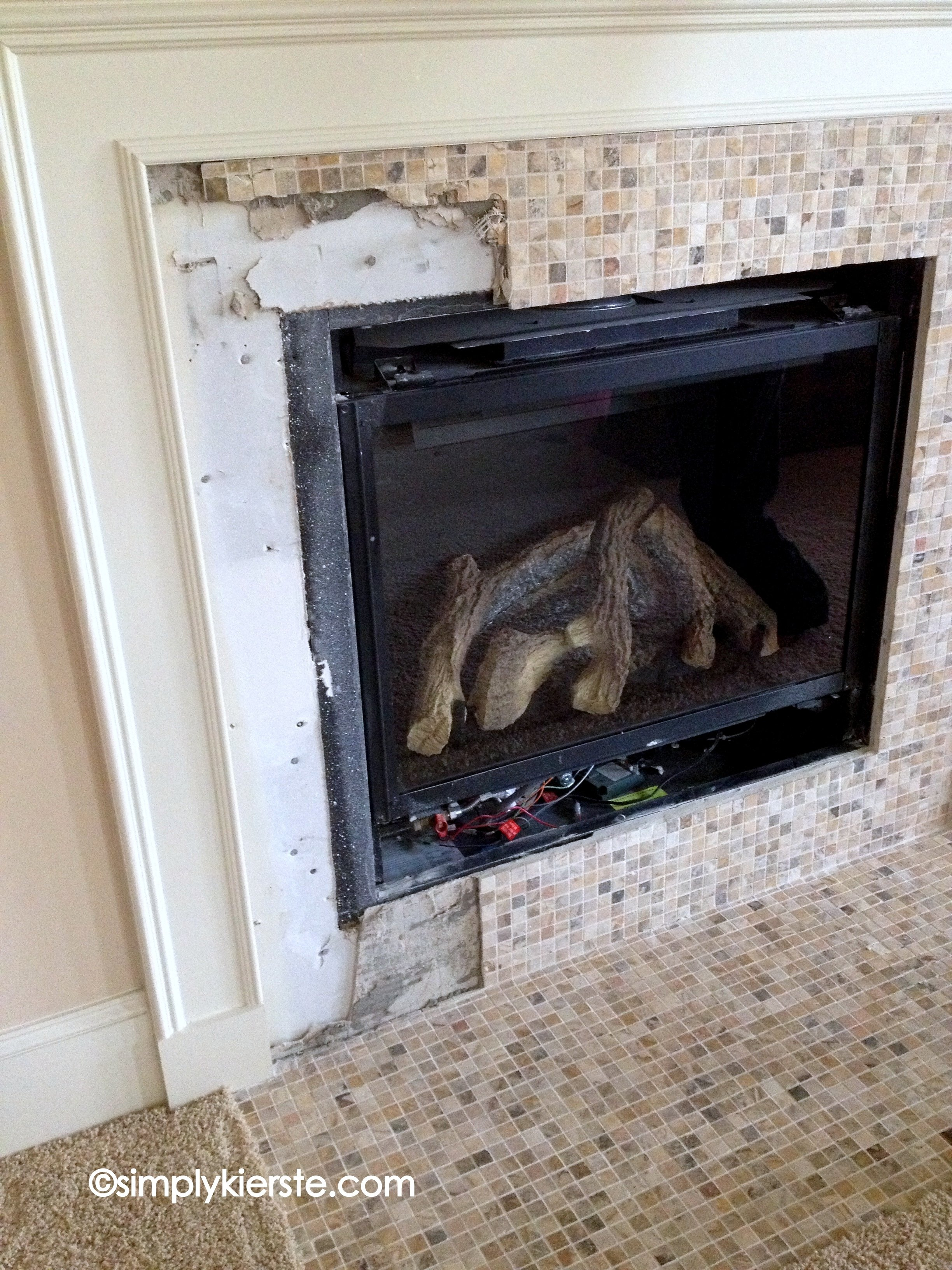 Fireplace Makeover Using Airstone Simplykierstecom