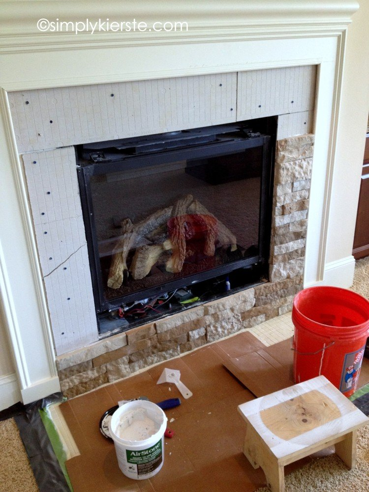 fireplace makeover   oldsaltfarm.com