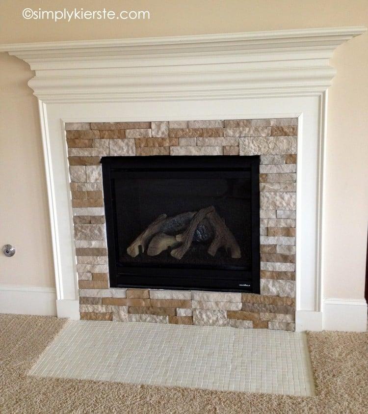fireplace makeover   airstone   oldsaltfarm.com