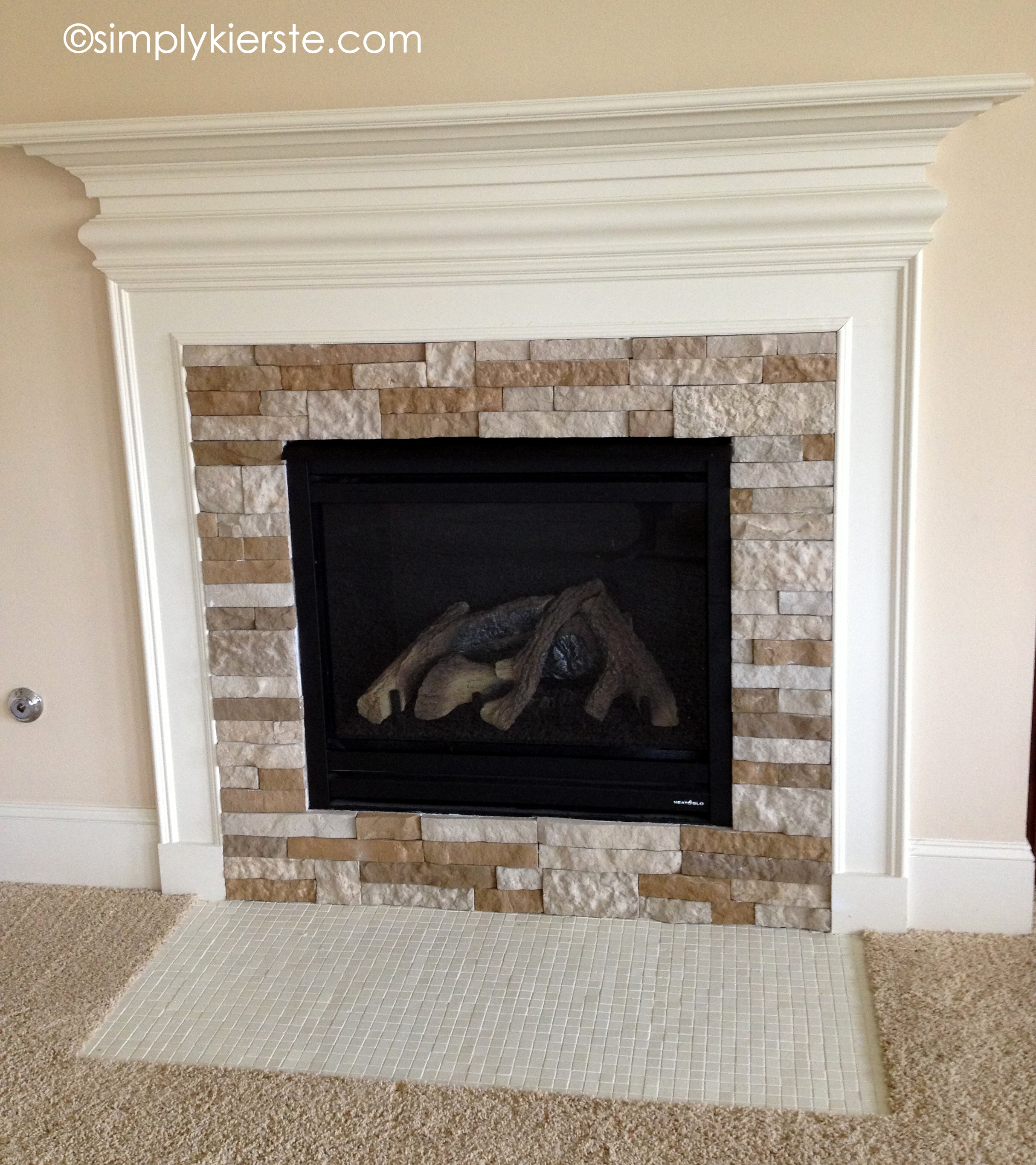 A fireplace makeover before and after
