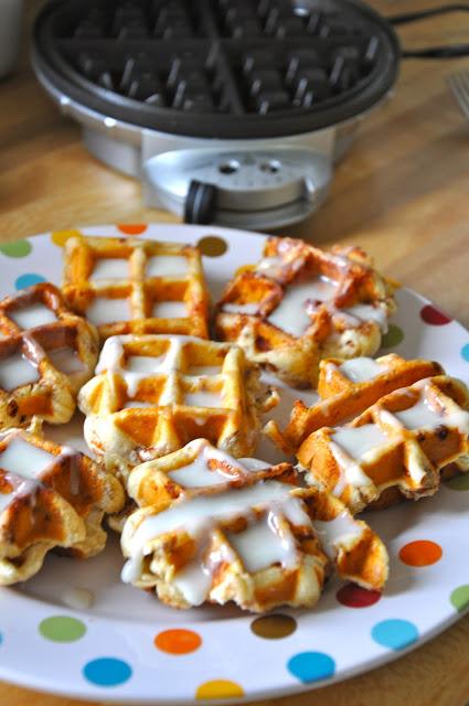 pinterest love | cinnamon roll waffles | oldsaltfarm.com