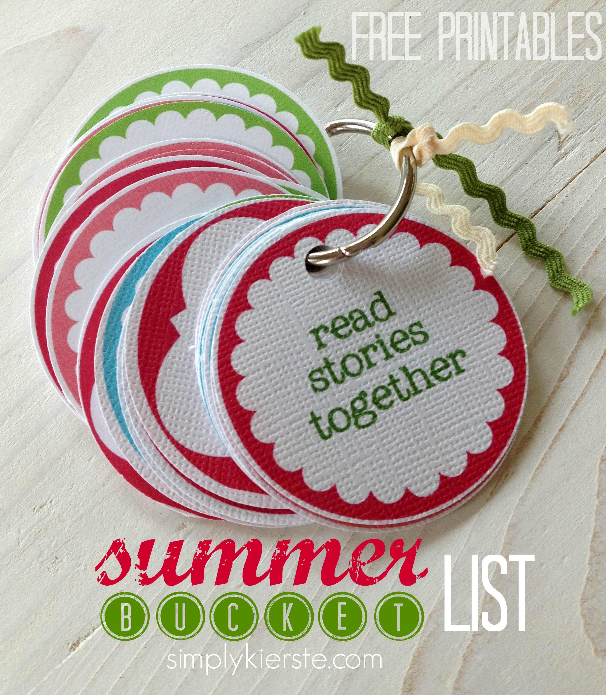 Summer bucket list {free printable}
