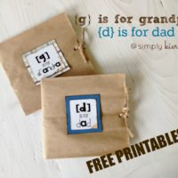 {d is for dad & g is for grandpa} paper sack cards & printable
