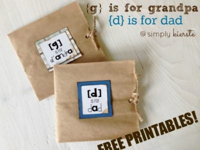 d is for dad paper sack cards | simplykierste.com