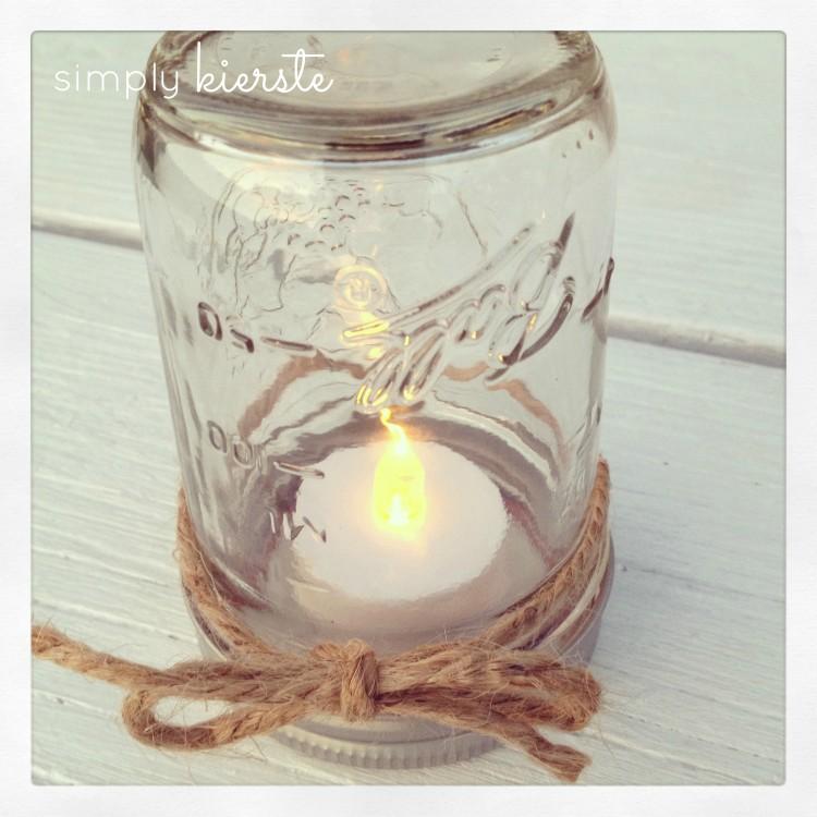 mason jar lantern | simplykierste.com