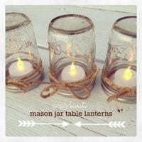 Easy DIY Mason Jar Lanterns