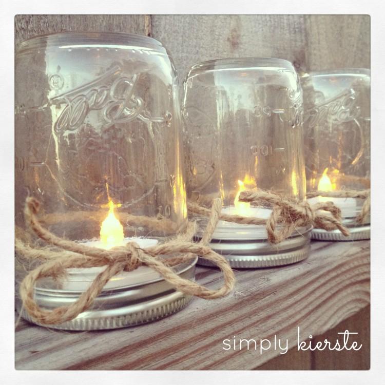 mason jar lanterns | simplykierste.com