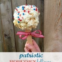 Patriotic Popcorn Lollipops