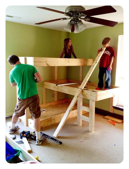 three tier bunk beds   oldsaltfarm.com