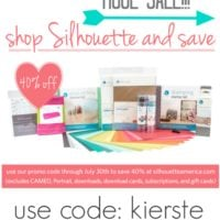 {40% off silhouette products…and a giveaway!!!}
