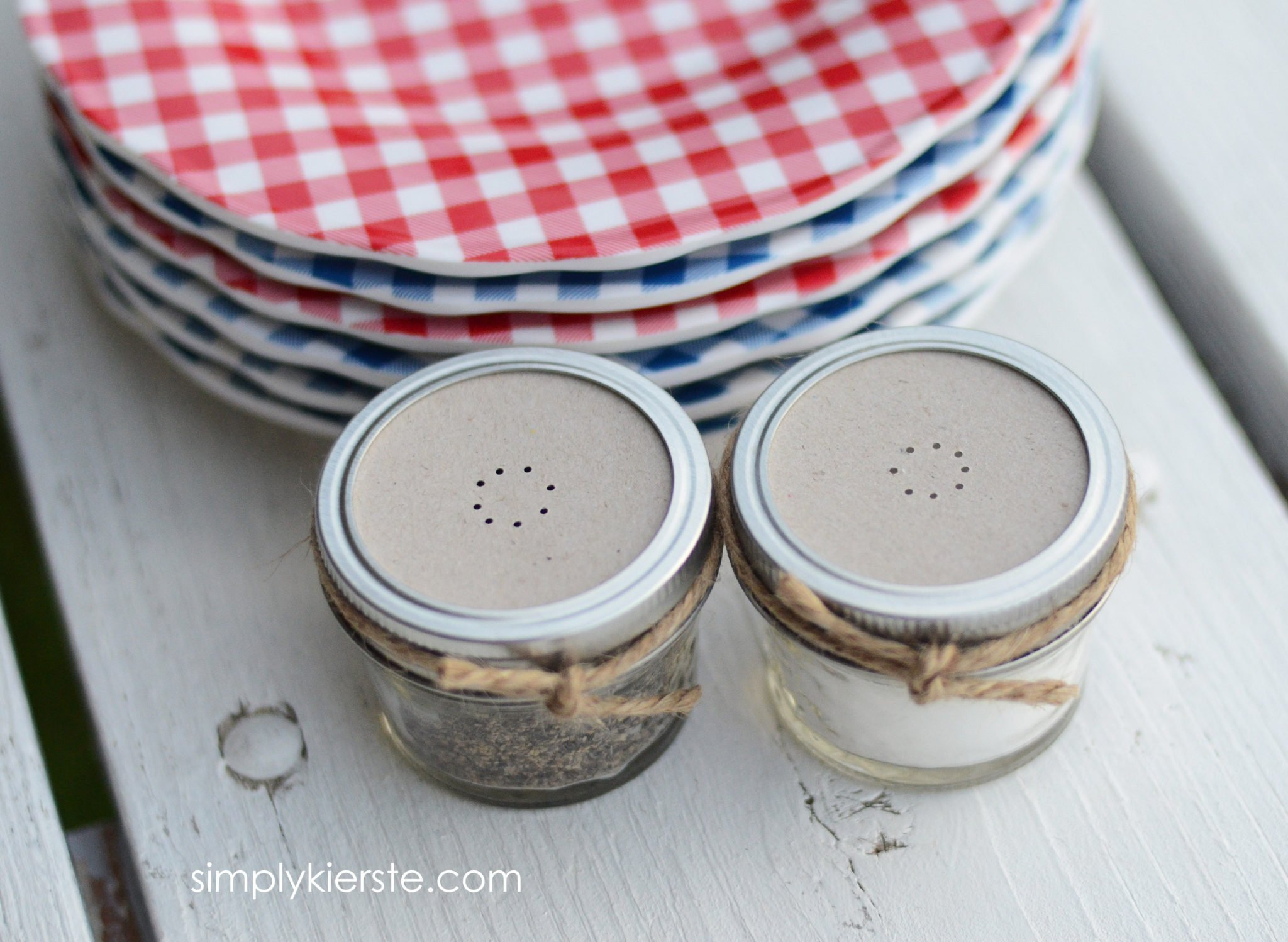 Mason Jar Salt Pepper Shakers